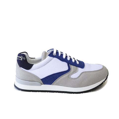'Felix' Vegan Running Sneaker by Good Guys Don't Wear Leather - Marine blue/white