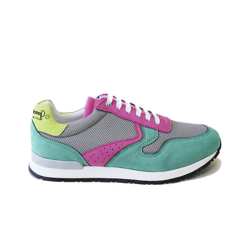'Felix' Vegan Running Sneaker by Good Guys Don't Wear Leather - Pink/Aqua