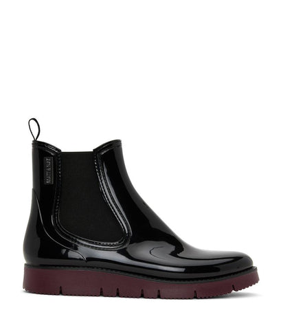 'Chelz' Vegan Chelsea Rain Boots by Matt and Nat - Black