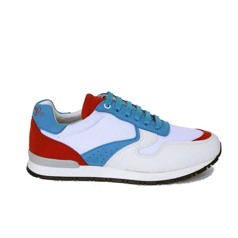 'Felix' Vegan Running Sneaker by Good Guys Don't Wear Leather - White/Red/Blue