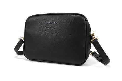 'Elle' Vegan Crossbody Bag by La Enviro - Black
