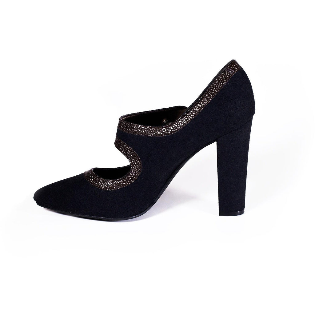 'Elektra' Mary-Jane vegan high-heel by Zette Shoes - black