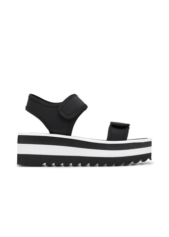 MOLLY // MIRANDA  women's vegan sandal by Twoobs - black and white - Vegan Style