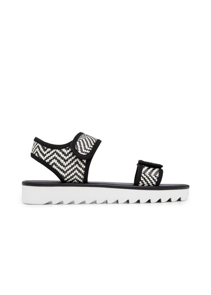 BECCA // SAFFA women's vegan sandal by Twoobs - black/white