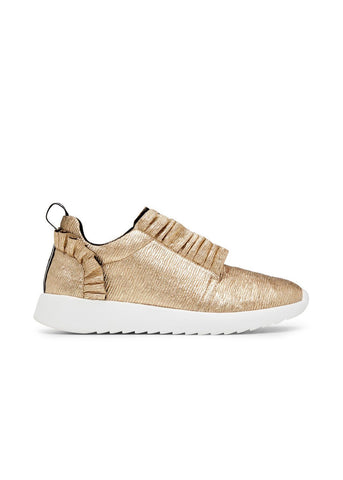 ANGEL // LISA women's vegan sneakers by TWOOBS - gold metallic