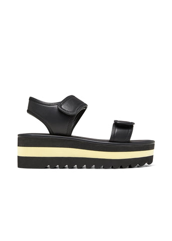 ALYSSA // ALISSA women's vegan sandal by Twoobs - black and eggshell - Vegan Style