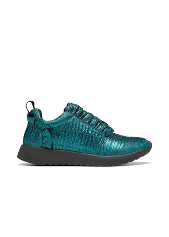 ZEPHYR // ZIGGY women's vegan sneakers by TWOOBS - emerald metallic - Vegan Style
