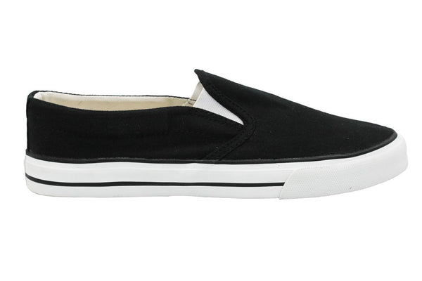 Vegan Slip Ons by Etiko - Black and White - Vegan Style