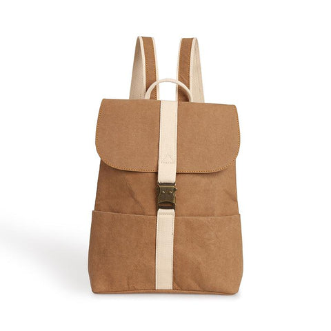 Yuvi vegan stylish backpack by Pretty Simple Bags - camel