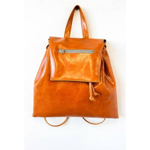 Crystalyn Kae - glazed vegan-leather backpack - Amélie - Vegan Style