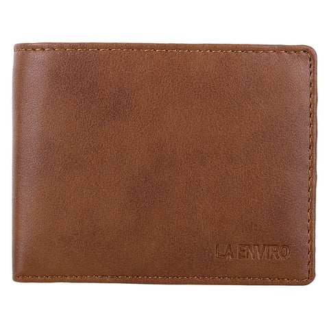 'Aron' men's brown vegan-leather wallet by La Enviro - Vegan Style