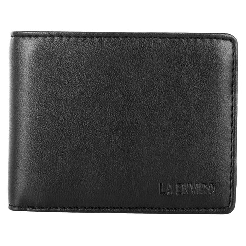 'Aron' men's black vegan-leather wallet by La Enviro