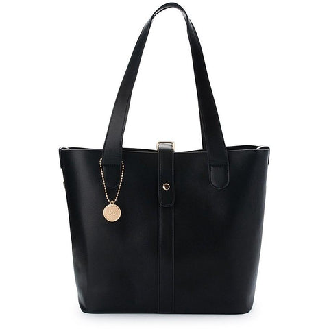 Thea-Theos 'Jupiter' vegan tote bag - black - vegan style