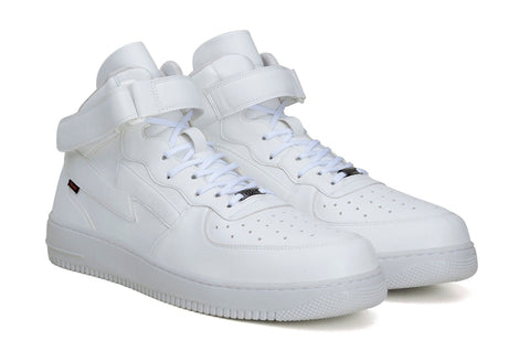 'Paramount' matte white vegan high-top sneaker by King55