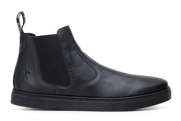 'Tokio' matte black chelsea boot by King 55 - Vegan Style