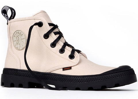 'Hammer' vegan canvas high-top sneaker by King55 - ivory