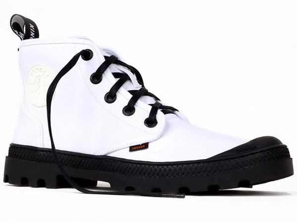 'Hammer' vegan canvas high-top sneaker by King55 - white