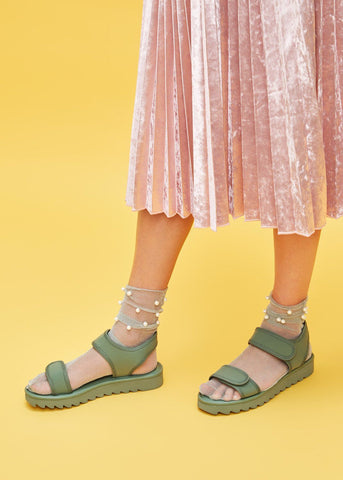 EVE // JAM women's vegan sandals by TWOOBS - khaki