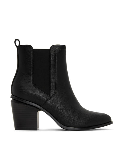 'Kalista' Vegan Mid Heel Boots by Matt and Nat - Black