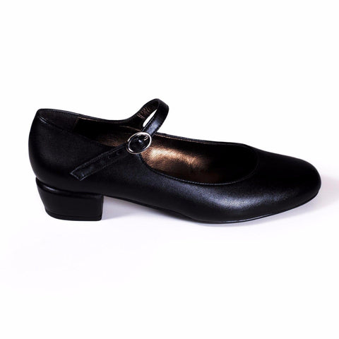 'Gracie' Mary-Jane vegan Low-Heels (Black) by Zette Shoes - Vegan Style
