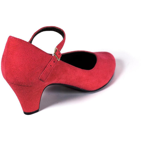 'Charlotte' Mary-Jane vegan mid-heel by Zette Shoes - red