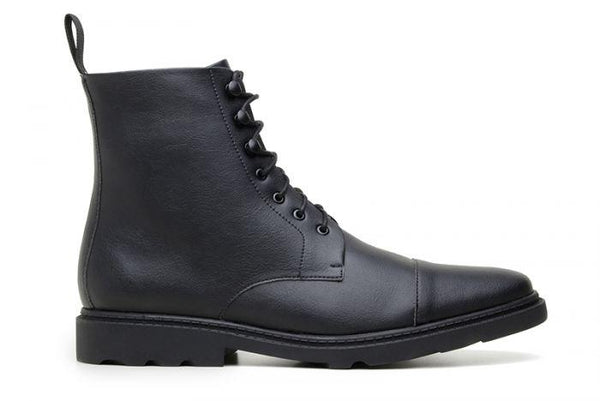 'Work Boot 2.0' Vegan Lace-Up Boot by Ahimsa - Black