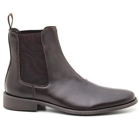 'George' men's Chelsea Boots (Brown) by Ahimsa
