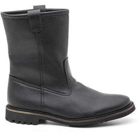 'Carola' vegan women's biker boot by Ahimsa - black - Vegan Style