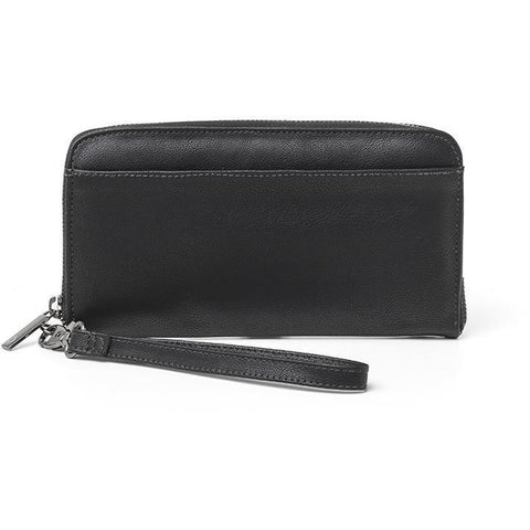 'Stella' vegan wallet for women by Ahimsa - black