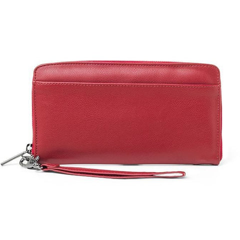 'Stella' vegan wallet for women by Ahimsa - red