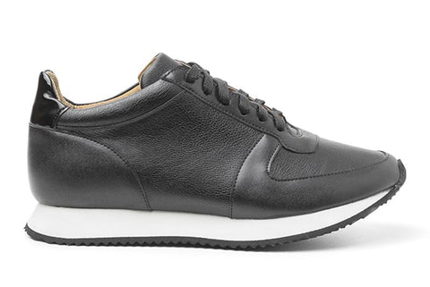 'Paola' vegan women's sneaker by Ahimsa - matte black