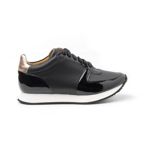 'Paola' vegan women's sneaker by Ahimsa - black