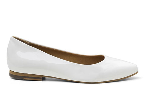 'Diana' vegan women's flat by Ahimsa - white - Vegan Style