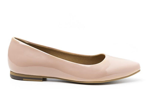 Diana vegan flat by Ahimsa in nude
