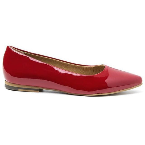 'Diana' vegan women's flat by Ahimsa - red