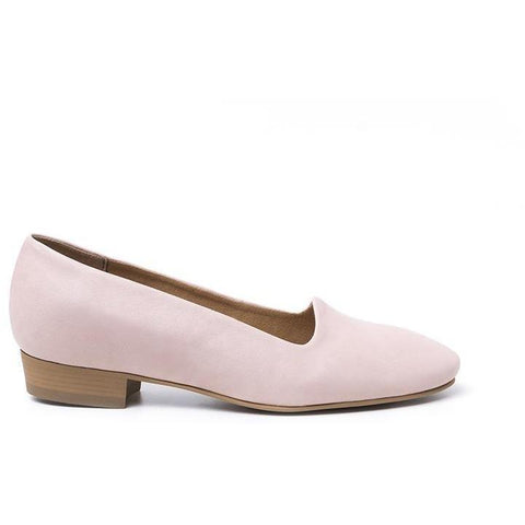 'Serena' vegan women's flat by Ahimsa - quartz pink