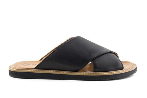 'Mia' women's vegan sandals by Ahimsa - black