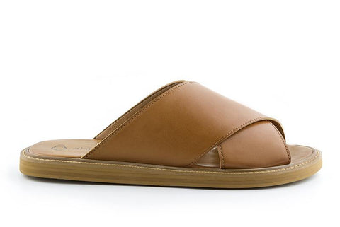 'Mia' women's vegan sandals by Ahimsa - brown