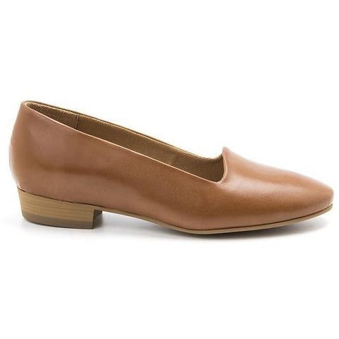 'Serena' vegan women's flat by Ahimsa - brown