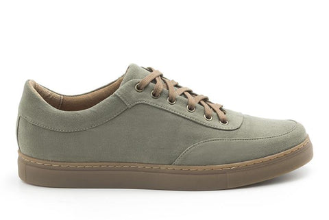 'Joey' Men's vegan canvas sneakers by Ahimsa - olive