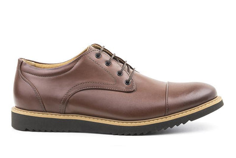 'Victor' Men's cap toe  by Ahimsa - cognac - Vegan Style