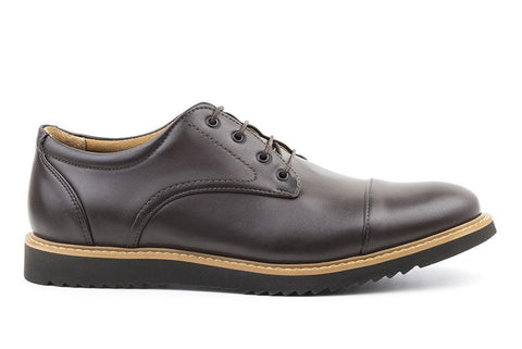 Victor' Men's cap toe  by Ahimsa - espresso