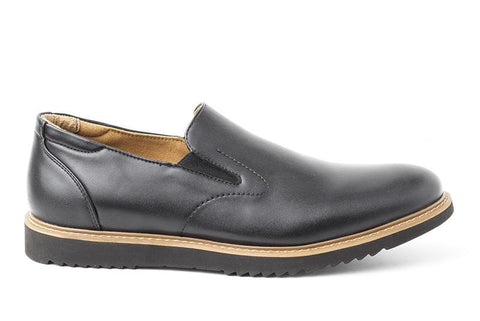 'Andrew' Men's slip-on shoe  by Ahimsa - black