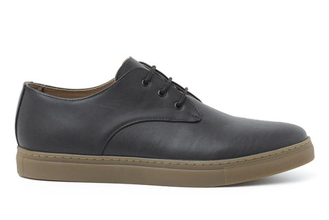 'Paul' Men's vegan leather sneakers by Ahimsa - black