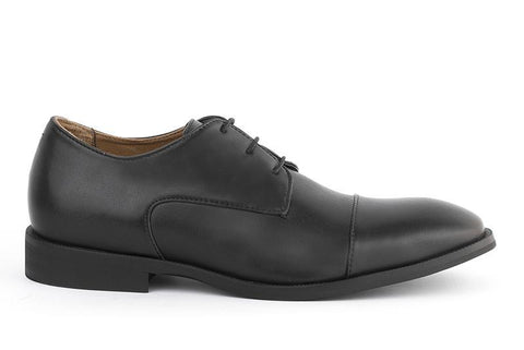 'Henry' Men's classic cap-toe shoe  by Ahimsa - black