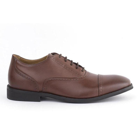 'Arthur' Men's classic shoe  by Ahimsa - cognac
