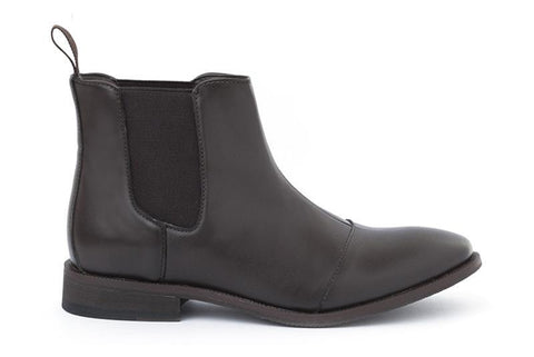 'Laura' vegan women's chelsea boot by Ahimsa - espresso