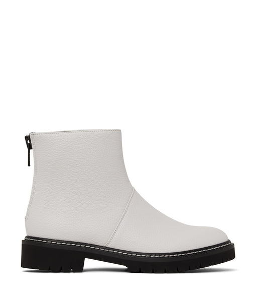 'Mirra' Vegan Ankle Boot by Matt and Nat - White