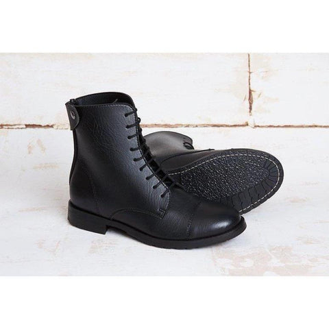 'Norider' Boots black vegan leather by Good Guys