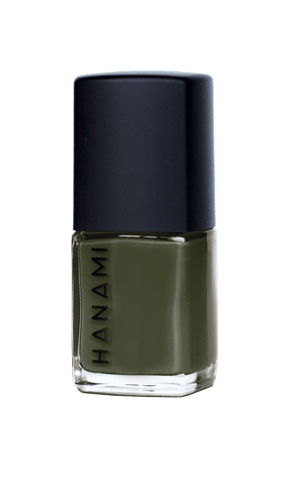 'The Moss' Army Green Nail Polish (15ml) by Hanami Cosmetics